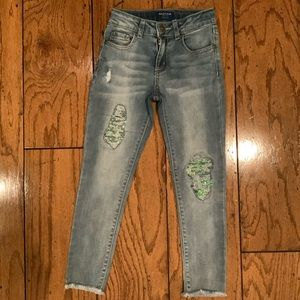 Like New Distressed Sequin Arizona Jeans